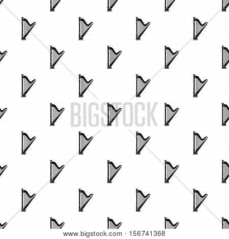 Harp pattern. Simple illustration of harp vector pattern for web