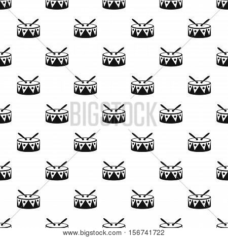 Drum and drumsticks pattern. Simple illustration of drum and drumsticks vector pattern for web