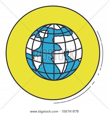 Planet sphere icon. Earth world map and cartography theme. Isolated design. Vector illustration