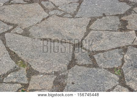 The paths laid by a tile of gray color
