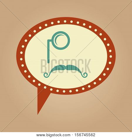 symbol hipster monocle and long mustache vector illustration eps 10