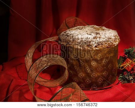 Traditional Homemade Spicy Panettone For For Winter Holidays.