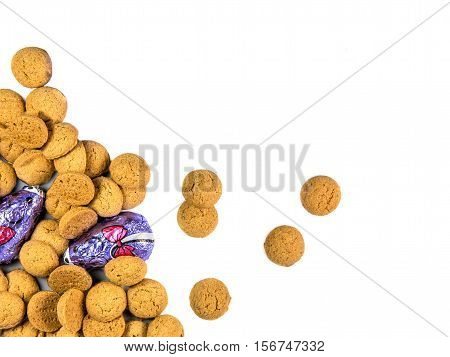 Bunch Of Spread Pepernoten Cookies And Chocolate Mice