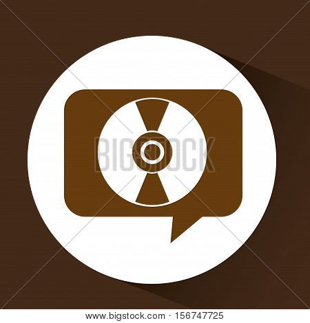 vintage vynil disk symbol design vector illustration eps 10