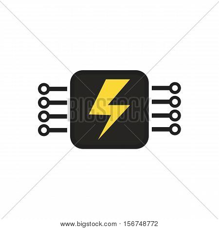 Electricity Chip, Abstract Vector Design By Esp10