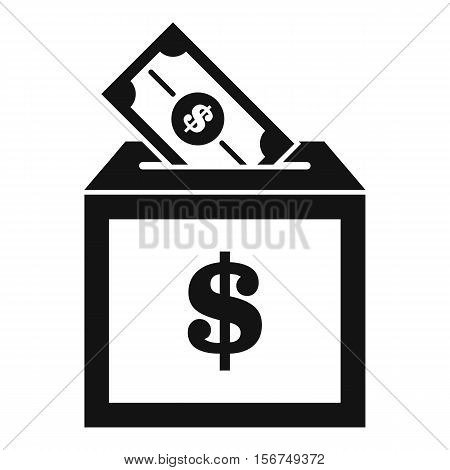 Donation box icon. Simple illustration of donation box vector icon for web design