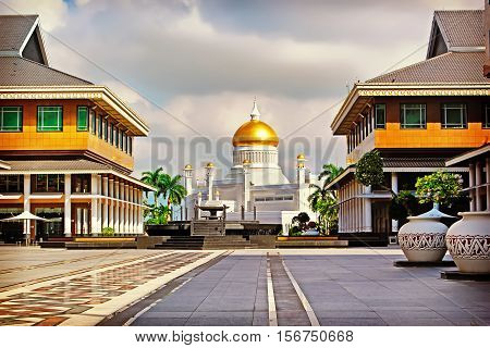 Sultan Omar Ali Saifudding Mosque Bandar Seri Begawan Brunei Southeast Asia. Instagram filter
