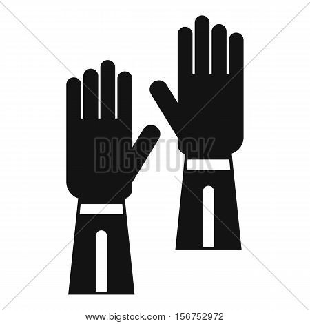Gloves icon. Simple illustration of gloves vector icon for web