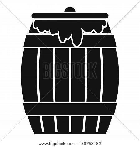 Honey keg icon. Simple illustration of honey keg vector icon for web