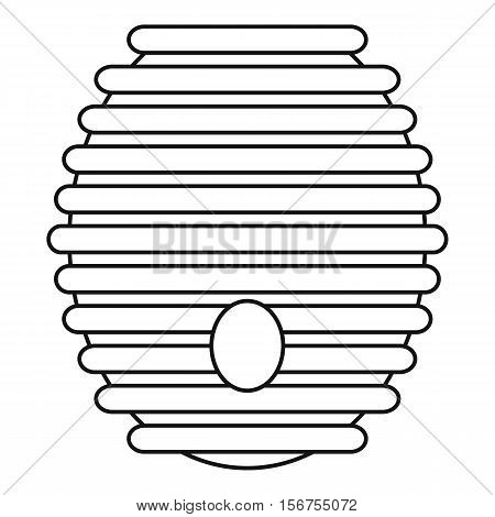 Beehive icon. Outline illustration of beehive vector icon for web