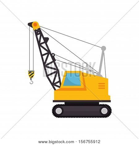construction machinery isolated icon vector illustration design