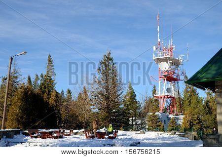 Szyndzielnia - near the upper station cableway, antenna transmitting - receiving