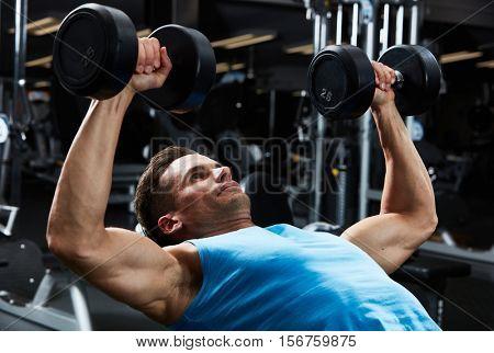 Gym bench press workout