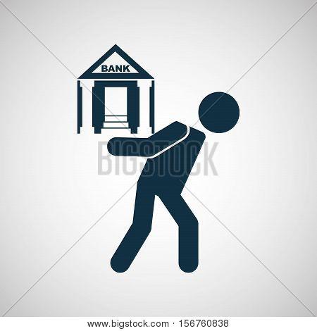 crisis economy bank concept icon design vector illustration eps 10
