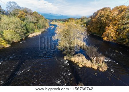 River Wye In Autumn At Hay On Wye