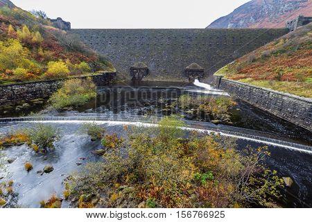 Caban Coch Reservoir Dam