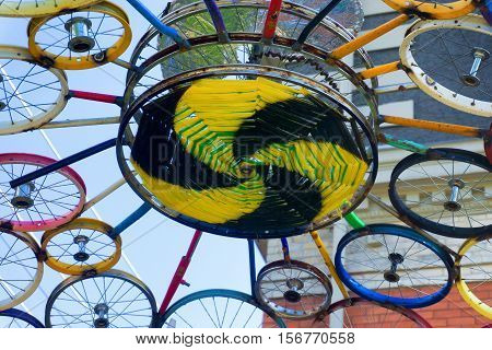 MISSOULA MT - JULY 18: Public art display in Missoula MT on July 18 2016