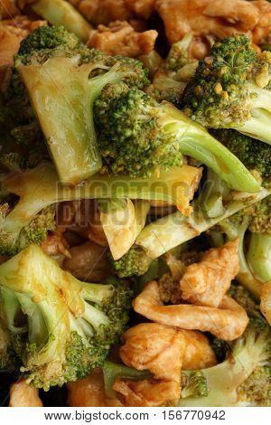 Chinese Food. Chicken With Broccoli