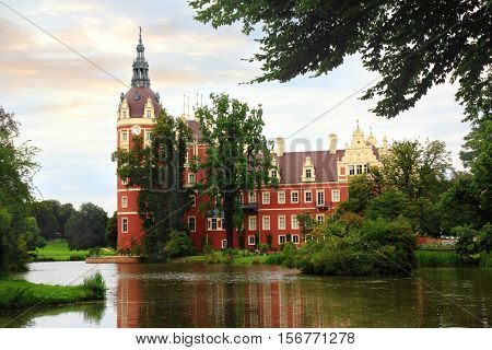 Palace in Bad Muskau Park, Germany