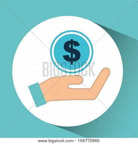 hand concept save money currency vector illustration eps 10