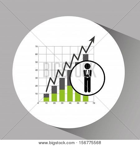 concept stock exchange market wall street statistics icon vector illustration eps 10