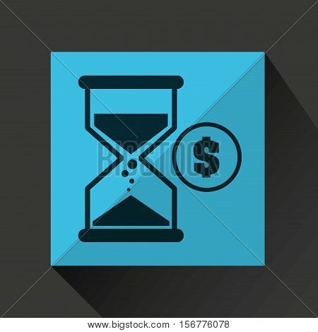 sand clock money coin icon design vector illustration eps 10