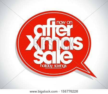 After xmas sale speech bubble sticker mockup, holiday savings concept