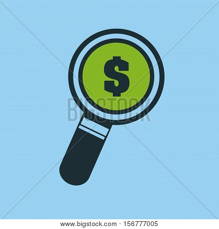 hand putting search money vector illustration eps 10