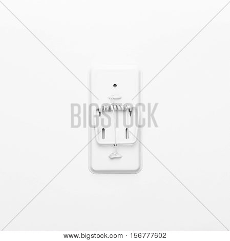 mousetrap on the white background. not isolated
