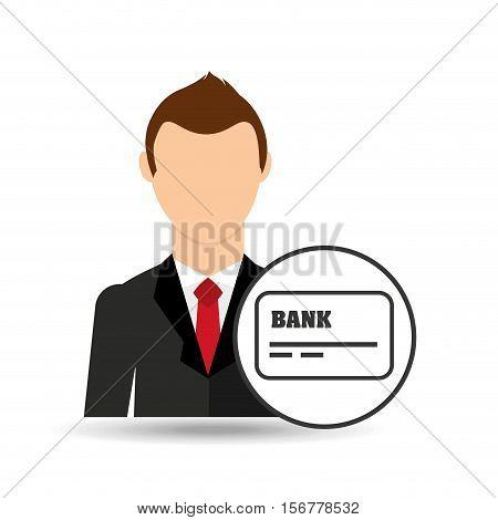 businessman character credit card debit icon vector illustration eps 10