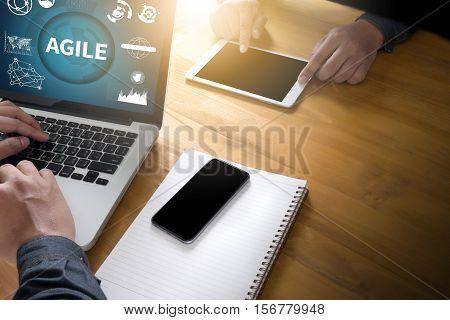 AGILE Agility Nimble Quick Fast Concept agile, agilely, agileness, agility, analysis, browsing,
