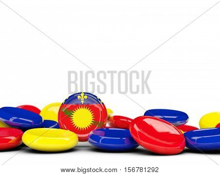 Flag Of Guadeloupe, Round Buttons