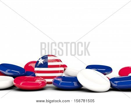 Flag Of Liberia, Round Buttons