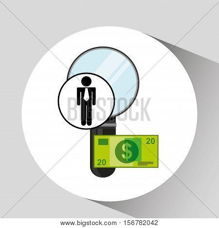business man searching money digital design vector illustration eps 10