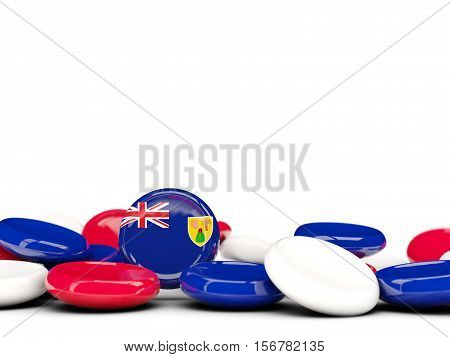 Flag Of Turks And Caicos Islands, Round Buttons