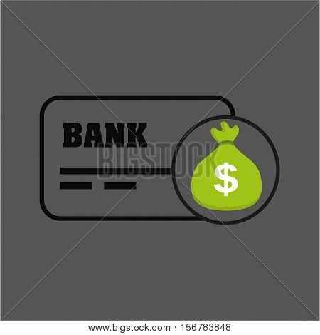 sack money with card credit and debit bank vector illustration eps 10