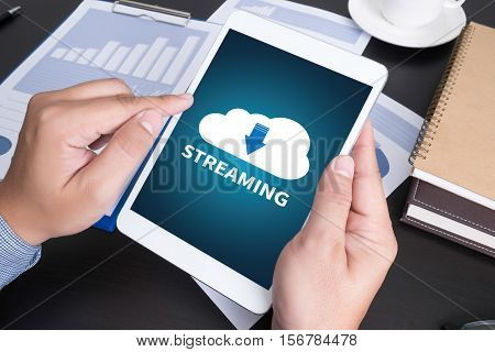 Live Streaming  Backup Download   Computing Digital Data Transferring , Streaming