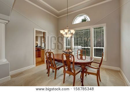 Interior Design Of American Dining Table In Classic Style