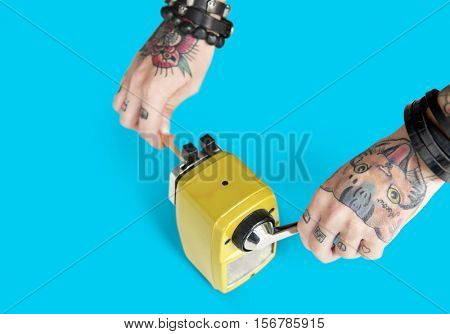 Tattoo Pencil Sharpener Graphite Supply Tool Concept