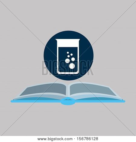 chemical glove with trest flask vector illustration eps 10