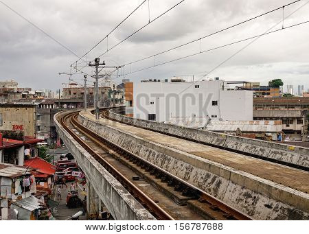 Railway In Manila, Philippines