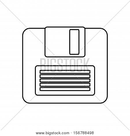 Diskette icon. Technology media data and information theme. Isolated design. Vector illustration