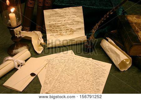 Charles Dickens - Writing table studio shot.