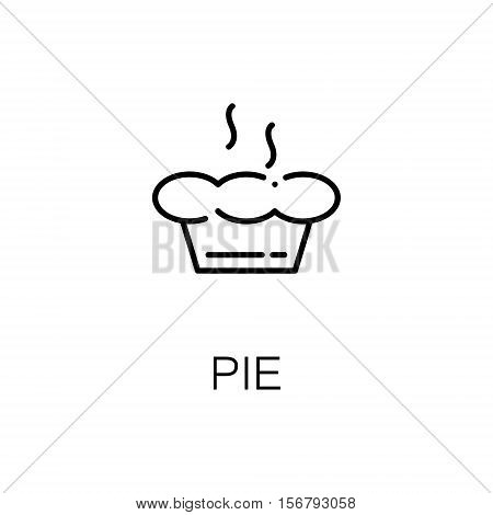 Pie flat icon. Single high quality outline symbol of bakery for web design or mobile app. Thin line signs of pie for design logo, visit card, etc. Outline pictogram of pie