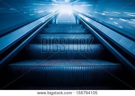 Escalator in an underground station of ShanghaiChina..