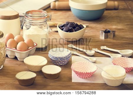 Kitchen Room Preparation Homemade Cooking Concept