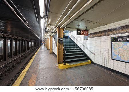 Seventh Avenue Subway Station - Brooklyn, New York