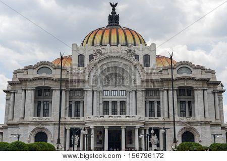 The Fine Arts Palace/Palacio de Bellas Artes in Mexico City Mexico.