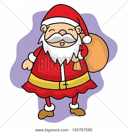 Cute Santa Christmas character stock vector art