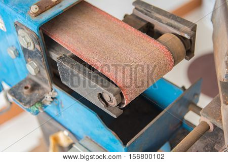 Lathe Turning the metal industry to produce and crafts at construction site